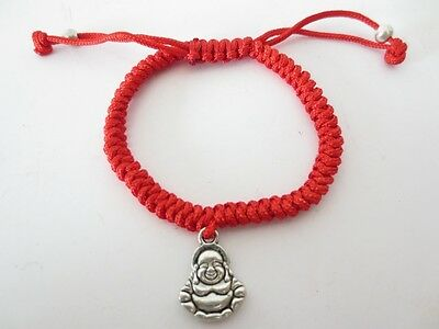 Chinesisches Happy Buddha Armband Kette China Glücksbringer Glück Feng Shui rot