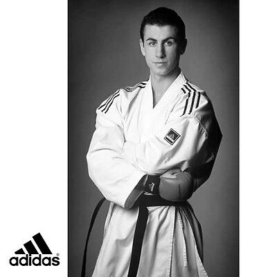 adidas Karate Kumite Master Gi with Stripes - KA-MTR-AS-OP-ST-WH