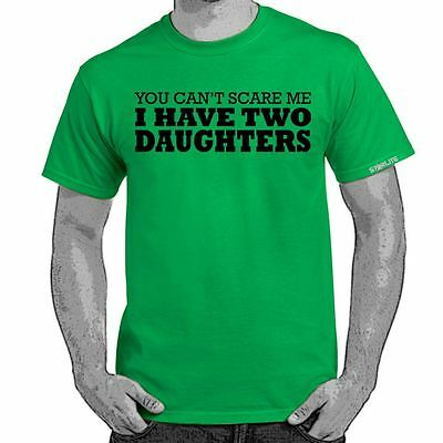 ALM786t-I have 2 Daughters tshirt-Mens Funny Printed Slogans Novelty T Shirts
