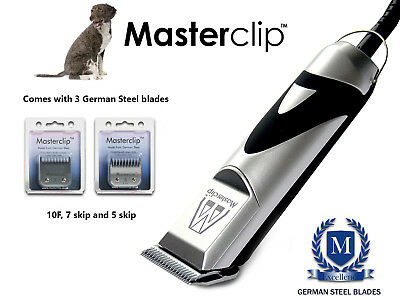 Spanish Water Dog Clippers Clipping Set & 3 German Steel Blades by Masterclip