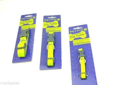 Wag N Woof Safety Paws Reflective Fabric Dog Collar Small Xs Or Med