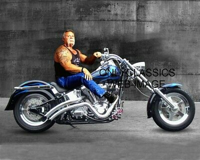 Cool Tough Guy Paul Teutul Sr On Motorcycle Chopper Photo Premier Cycle Builder