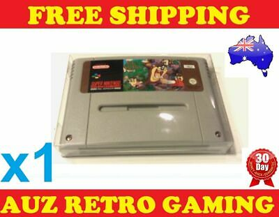 1x Thick GAME CART PROTECTORS Cases For SNES Super Nintendo Games Cartridge