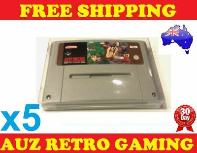 5x Thick GAME CART PROTECTORS Cases For SNES Super Nintendo Games Cartridge