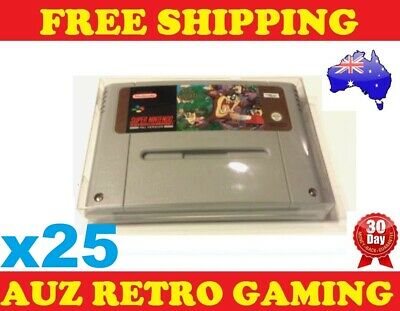 25x Thick GAME CART PROTECTORS Cases For SNES Super Nintendo Games Cartridge