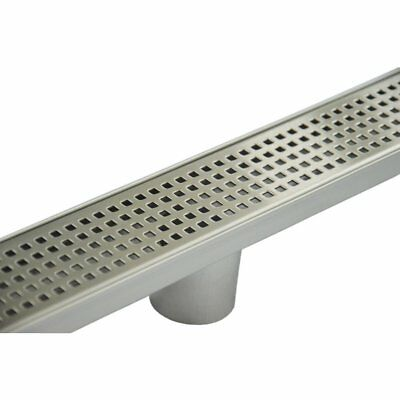 800mm Bathroom Shower Stainless Steel Grate Drain w/Centre outlet Floor Waste