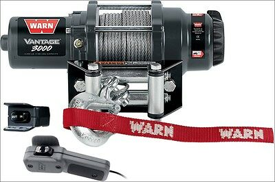 Warn Vantage 3000 lb 12V Winch w/ Wire Rope for Offroad ATV 4 Wheeler