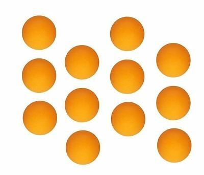 12 Orange Table Tennis Ping Pong Ball Toy Play Set Sports Party Bingo Game Pet