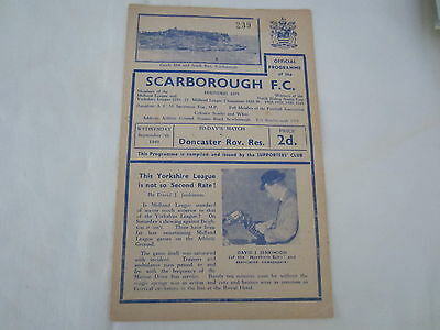 1949-50 SCARBOROUGH FC v DONCASTER ROVERS RESERVES