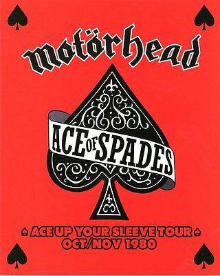 New Motorhead The Ace of Spades Tour Poster Card