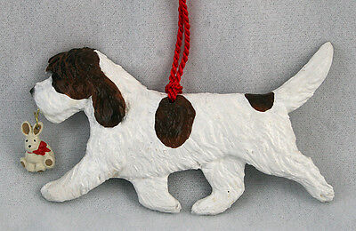 Petit Basset Griffon Vendeen (PBGV) Dog Ornament SIGNED by artist