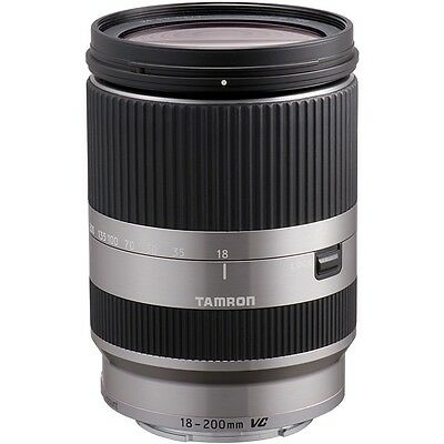 Tamron 18-200mm F3.5-6.3 Di III VC Lens - EOS-M Fit in Silver