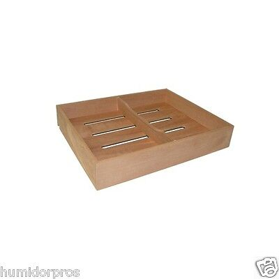 Spanish Cedar Cigar Tray w/ Divider For Humidor Storage Aromatic Small NEW
