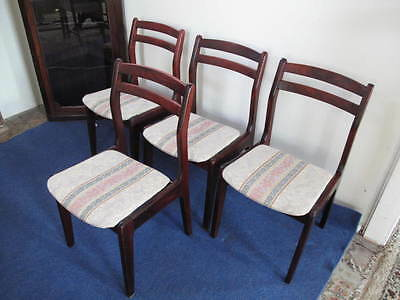 A set of four quality Retro Nathan dining room chairs