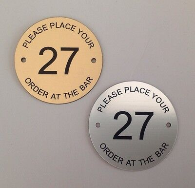 66mm Place your order at the bar table numbers Pubs Clubs Restaurant hotels