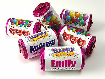 Personalised Mini Love Heart Sweets for Birthday, favours