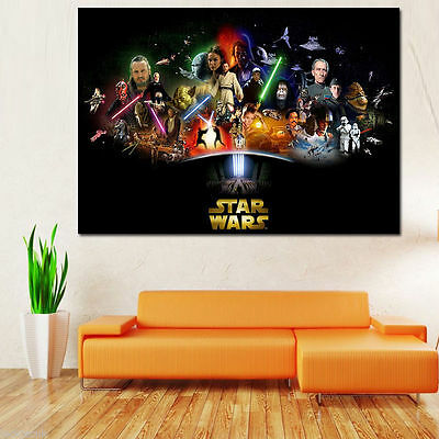 Star Wars All Episodes Large Poster Ao Size 47In X 33In Free Postage