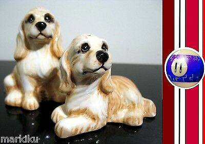 Cocker Spaniel dog Salt & Pepper  shakers Big Sky Carvers.