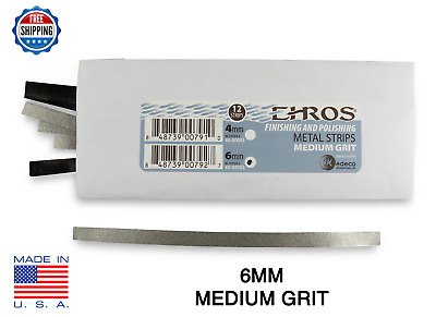 EHROS Polishing & Finishing Strips  MEDIUM 6MM Dental IPR Interproximal 12 Pack