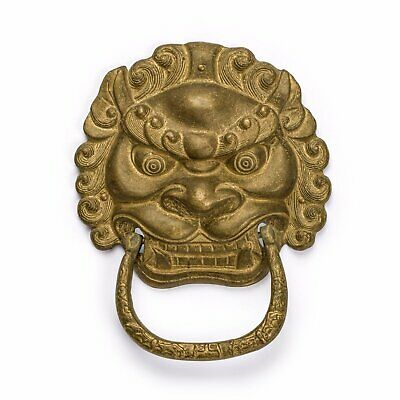 "Gnashing Teeth Lion Door Pull 6.1"" - Set of 2"