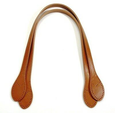 "byhands Genuine Leather Purse Handles / Bag Strap, Camel, 23"" (32-5904)"