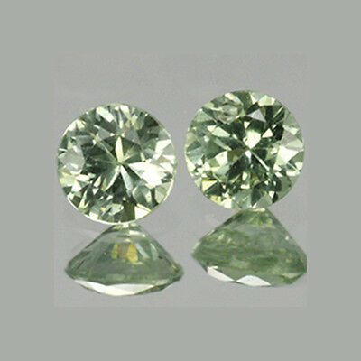 2.3mm Lot 2,10,50pcs Round Cut Accent Stone Natural Green SAPPHIRE