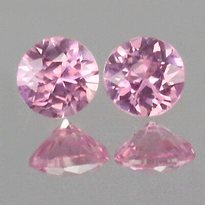 2.5mm Lot 2,6,10,20,50pcs Round Cut Accent Stone Natural Pink SAPPHIRE