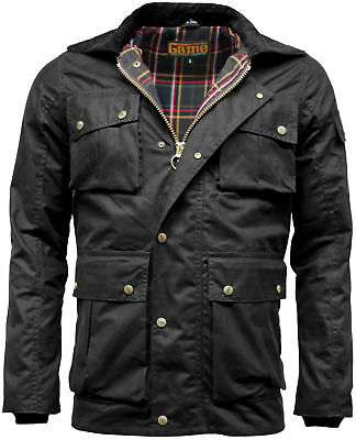 Mens Game Utilites Waxed Cotton Multi Pocket Wax Jacket