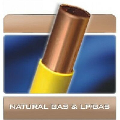 """3/8"""" OD Yellow Polyethylene Coated Copper Gas Tubing 50 FT 3/8 od poly coated"""