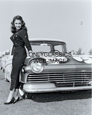 Hot Rod Sexy Girl Pinup Cheesecake Ford Ranchero 8X10 Photo Custom Street Car