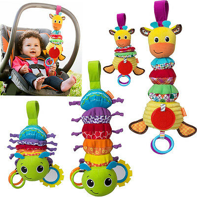 Infant Baby Kid Child Pull Down Music Box Melody Soft Plush Rag Cloth Rattle Toy