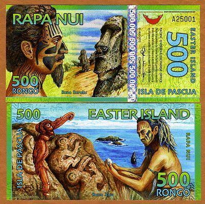 Easter Island, 500 Rongo, 2012, Polymer, New, UNC > Redesigned