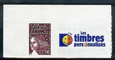 Stamp Timbre Personnalise Marianne France N° 3729C ** Logo Timbres Personnalises