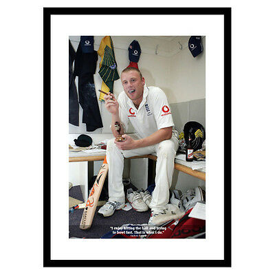 Andrew Flintoff Classic Quote England Cricket Photo Memorabilia (086)