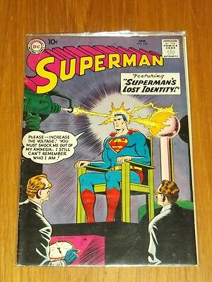 Superman #126 Fn- (5.5) Dc Comics January 1959