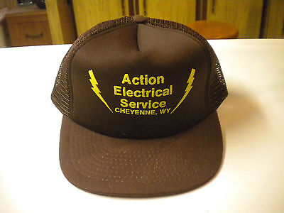 Action Electrical Service, Cheyenne, WY, Truckers Cap / Hat, Mesh & Snapback
