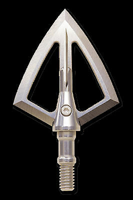 """SOLID LEGEND BROADHEAD 125 gn 1/2"""" BLEEDER BLADE S30V STEEL, 3 PACK WITH CASE!"""