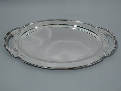 Gorham Tray - Antique Serving - Oval Cartouche - American Sterling Silver