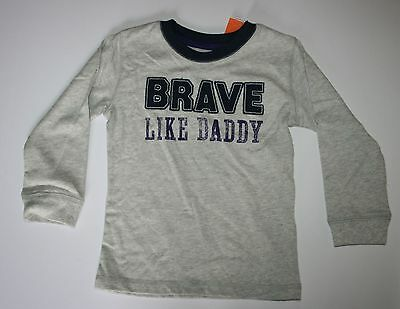 NEW Gymboree Shields and Sails Line Brave Like Daddy Long Sleeve Tee Size 2T NWT