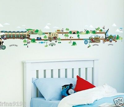 Thomas and Friends Stick A Story Vinyl 100 Wall Stickers Glow In Dark Room Decor