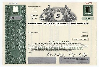 SPECIMEN - Standard International Corporation Stock Certificate
