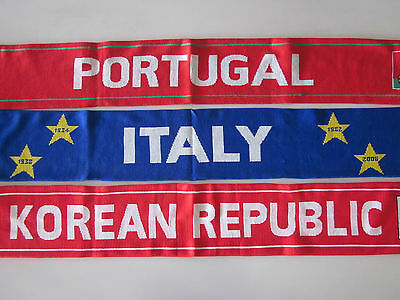 Portugal, Italy Or Korean Republic Soccer Football Scarf Scarves New Sekem Korea