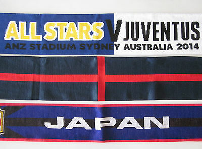 ALL STARS v JUVENTUS, ENGLAND OR JAPAN SOCCER FOOTBALL SCARF SCARVES NEW