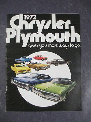 Vtg 1972 Chrysler Plymouth Automotive Buyers Guide Catalog Imperial Barracuda