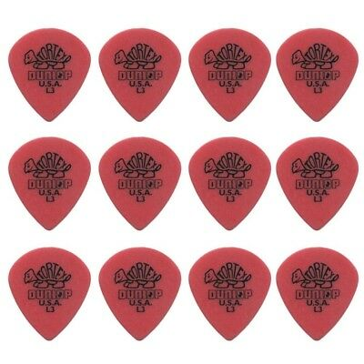 12 X Jim Dunlop Tortex Jazz Light Sharp Guitar Picks *NEW* Jazz III 472RL3