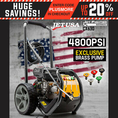 NEW Jet-USA Cleaner 4800 PSI High Pressure Washer Petrol Water Hose Gurney Pump