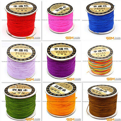 0.8mm 120 Meters Nylon Handcraft Rattail Cord Chinese Knotting Thread String
