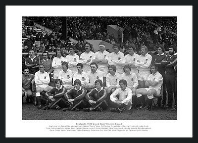 England Rugby Memorabilia - 1980 Five Nations Grand Slam Team Photo (223)