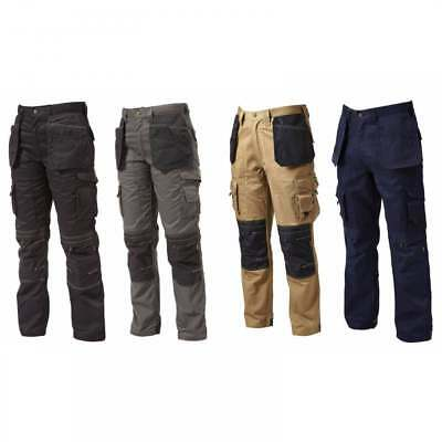 Apache Combat Cargo Work Wear Cordura Trousers Kneepad & Holster Pockets