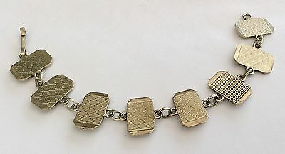 Superb Quality Early Vintage Solid Silver Heavy Art Deco Ladies Bracelet Lovely